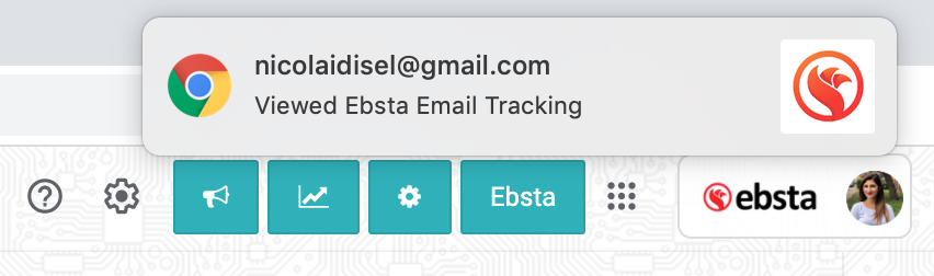 email tracking notification